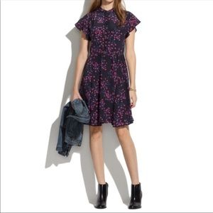 Madewell Dress In Night Orchid Style 08770 Silk